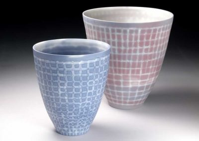 Pink and Blue Mesh Bowls, 2012