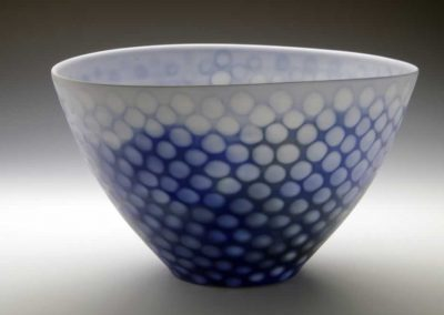 Untitled Blue Spotted Bowl, 2016