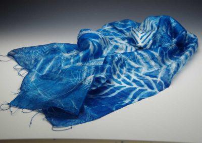 Fern on handwoven silk, 2017