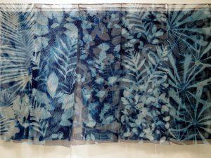 cyanotype on silk